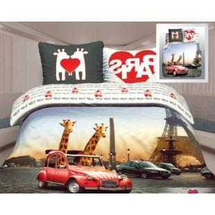 Постельное белье. Биоматин «UNISON 3D» Любовь в Париже
