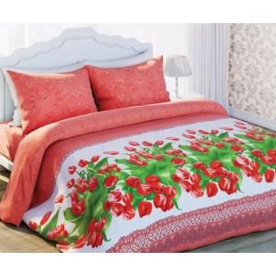 Постельное белье. «Любимый Дом 3D» Красные тюльпаны
