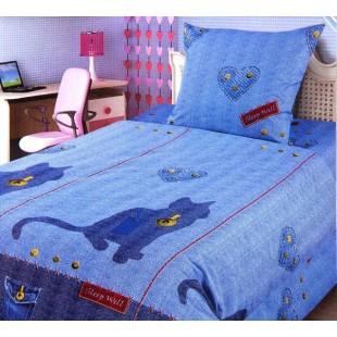 Детское постельное белье FOR YOU Джинсовый кот