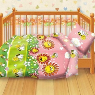Детское постельное белье «Кошки-мышки». Пчелки