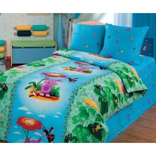 Детское постельное белье «Лунтик» Цветочная поляна