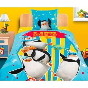 Детское постельное белье 3D «Мадагаскар-3» Пингвины