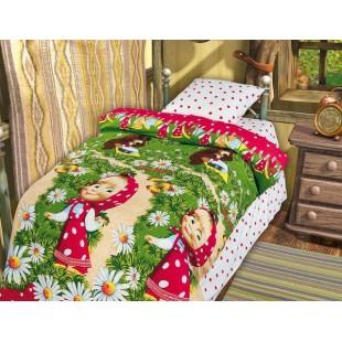 Детское постельное белье «Маша и Медведь» Большая стирка