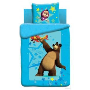 Детское постельное белье «Маша и Медведь» Полет (Сатин)