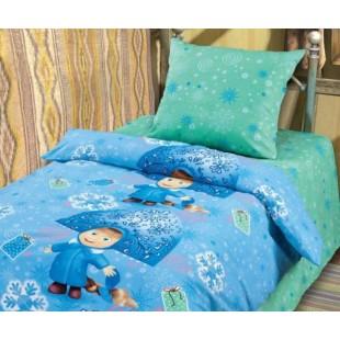 Детское постельное белье «Маша и Медведь» Снегурочка