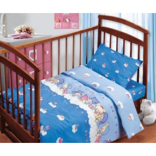Детское постельное белье «Непоседа» Мишки на облаках