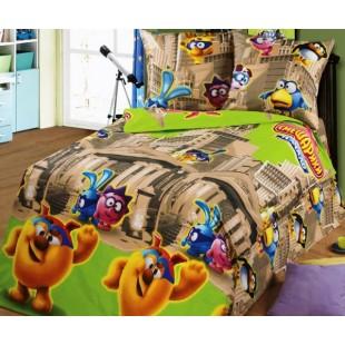 Детское постельное белье «Смешарики в музее»