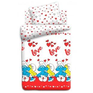 Детское постельное белье «Смурфики» Любовь