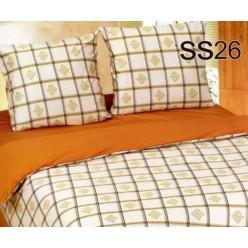 Постельное белье. Сатин «Лаванда» Клетки-виньетки SS26