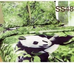 Постельное белье. Сатин «Лаванда» Панда SS48