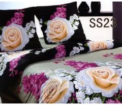Постельное белье. Сатин «Лаванда» Розы и гиацинты SS23